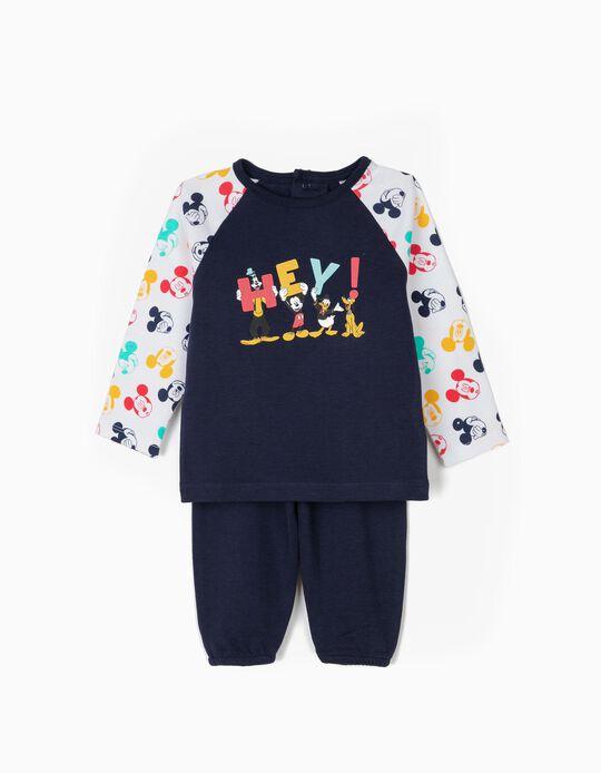 Pijama para Bebé Menino 'Hey! Disney' Manga Comprida, Azul e Branco
