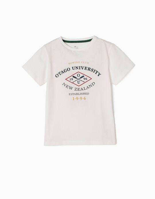 T-shirt Otago University Branca