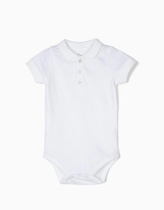 Body-Polo para Recém-Nascido, Branco