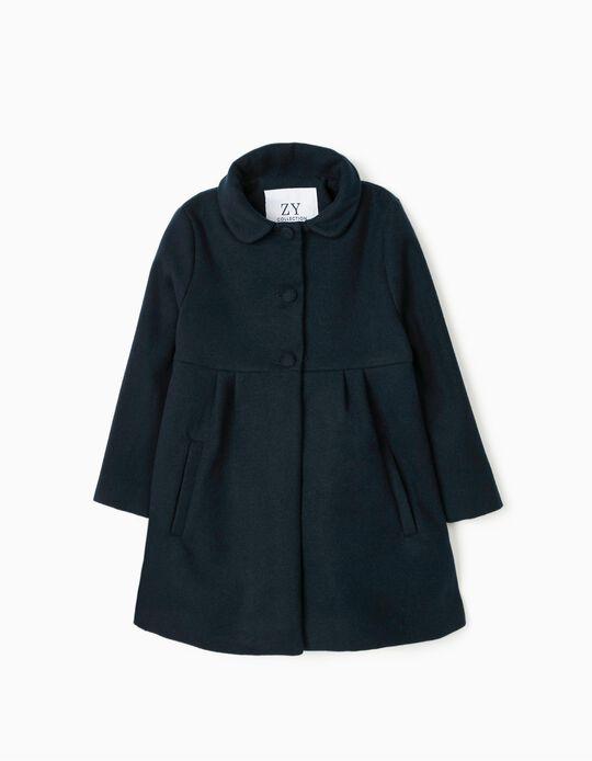 Coat for Girls, Dark Blue