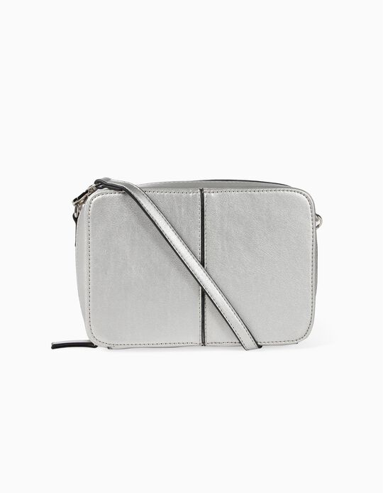 Crossbody Bag with Topstitching