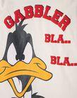 T-shirt Manga Comprida Daffy Duck Branca