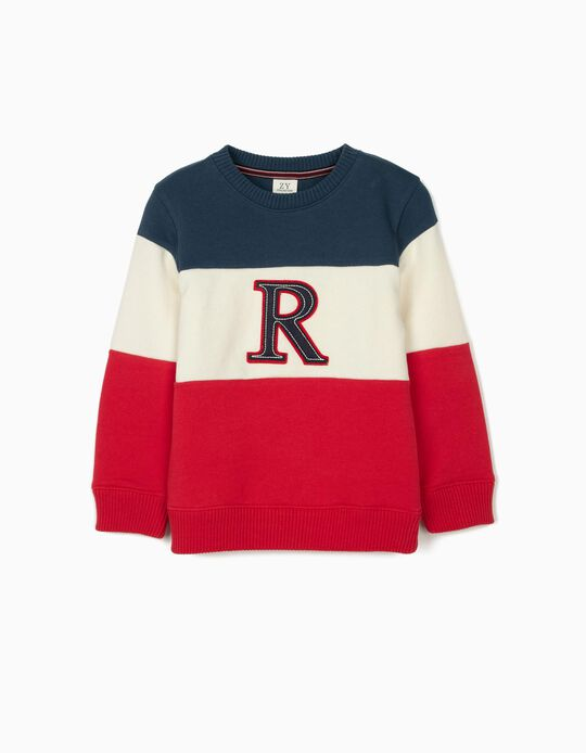 Sweatshirt for Boys 'R', Blue/White/Red