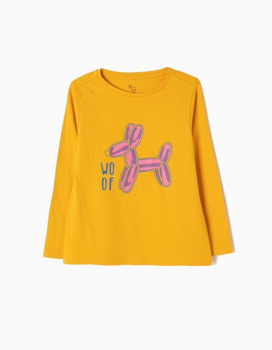 T-shirt Manga Comprida Woof Amarela
