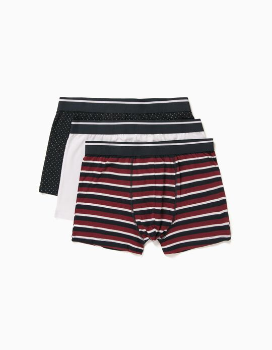 3 Assorted Boxer Shorts for Men