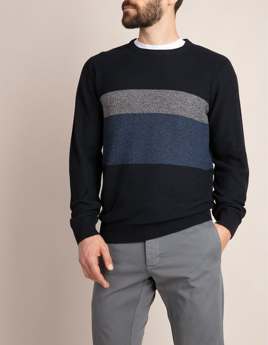 Colourblock Knitted Jumper
