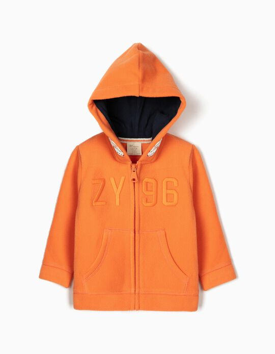Polar Fleece Jacket for Baby Boys 'ZY 96', Orange