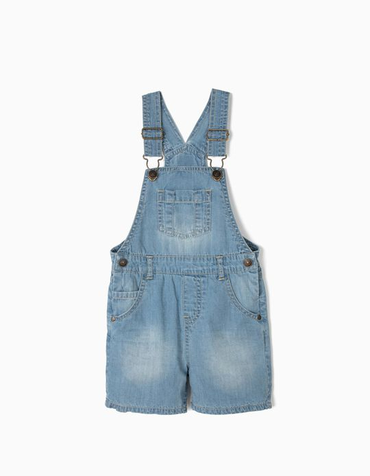 Denim Dungarees for Baby Boys, Light Blue