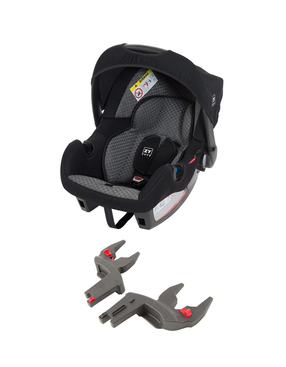 Cadeira auto Gr 0+ Primecare com kits Spin Zy Safe