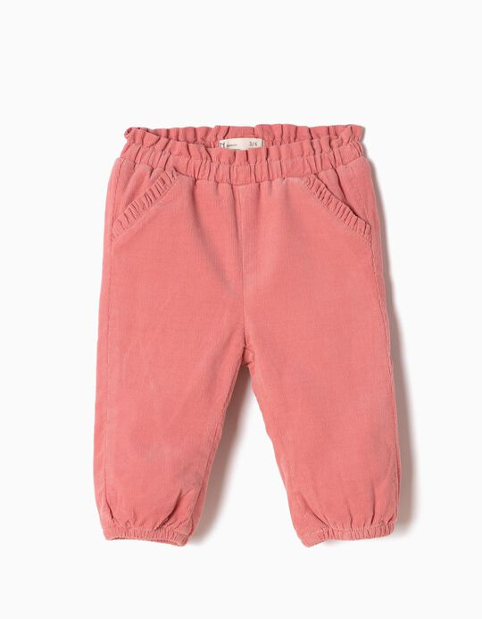Pink Corduroy Trousers