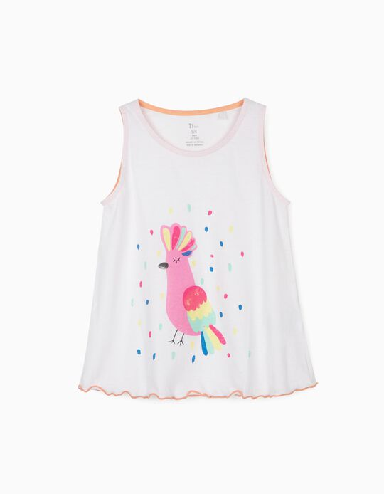 Top for Girls, 'Bird', White