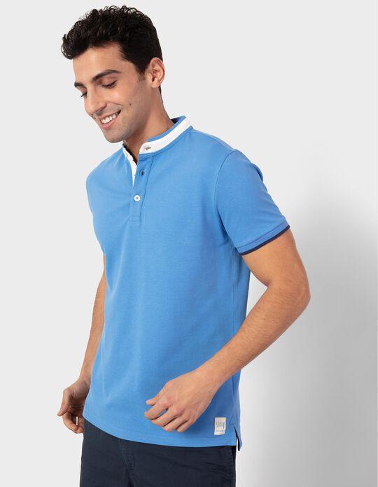 Mandarin Collar Polo Shirt, for Men