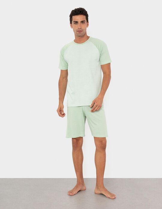 Pijama, Homem, Verde