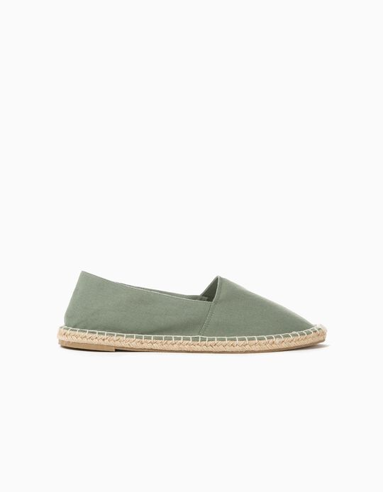 Flat Espadrilles, Green