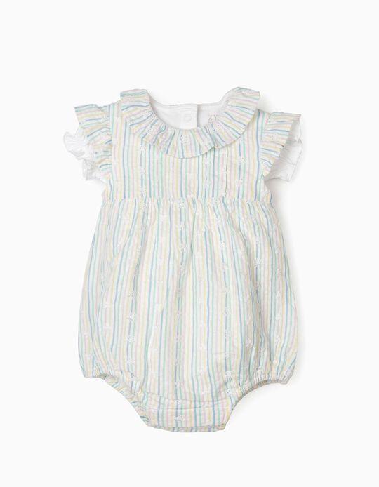 Jumpsuit & Bodysuit for Newborn Baby Girls, Multicoloured/White