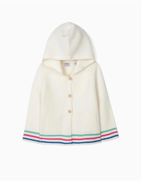 Casaco de malha tricotada com capuz