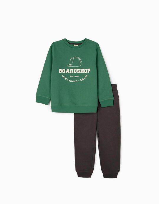Fato de Treino para Menino 'Boardshop', Verde/Cinza Escuro