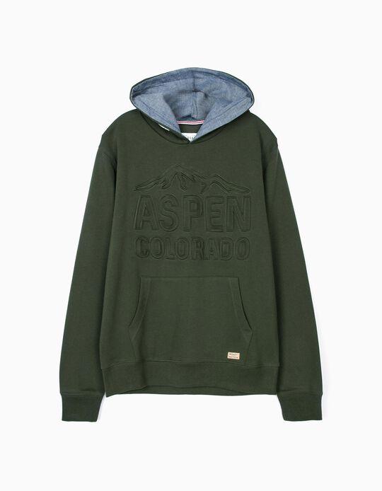 Sweatshirt com capuz Naval