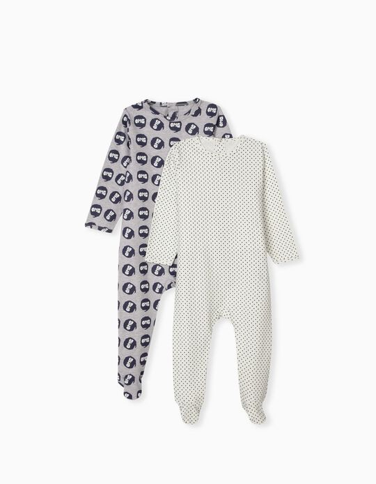 2 Cotton Sleepsuits