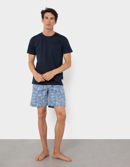 Pijama, Homem, Azul