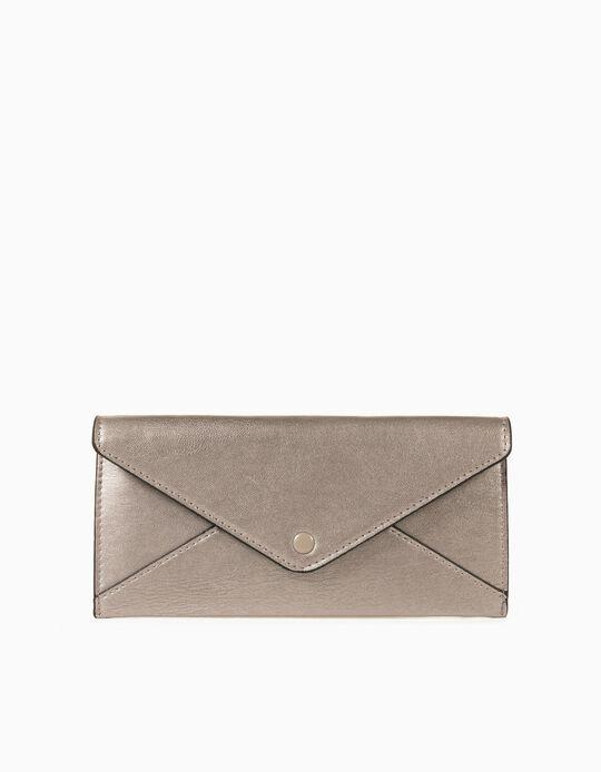 Plain Wallet for Women, Silver