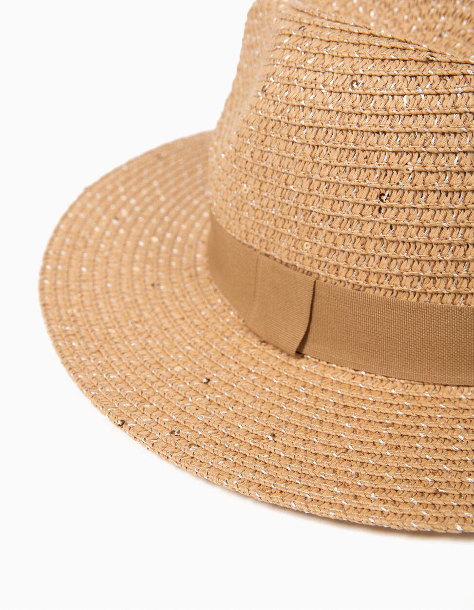 Chapéu De Palha Com Lurex