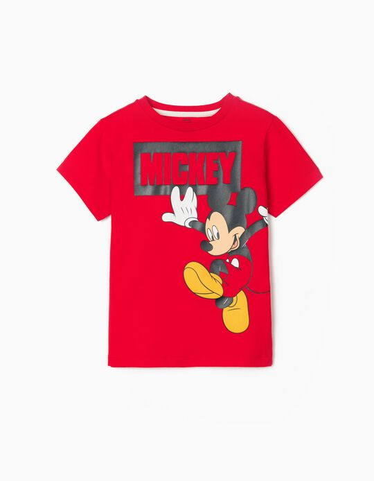 T-shirt para Menino 'Mickey', Vermelho