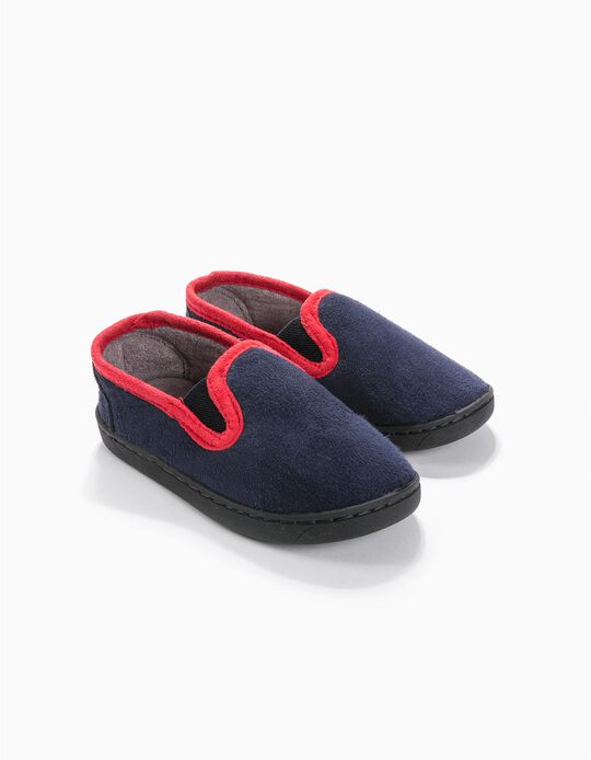 Slippers with Elastics for Boys, Dark Blue