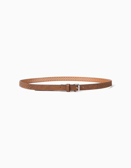 Textured Camel Belt, Women