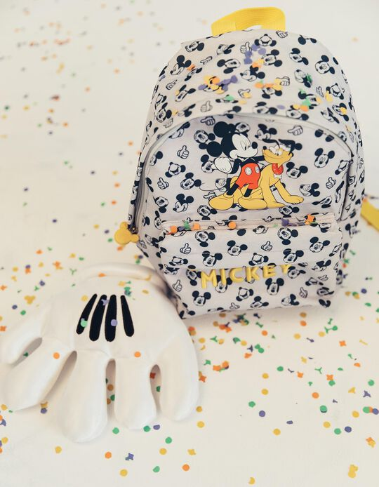 Mochila para Menino 'Mickey & Pluto', Cinza