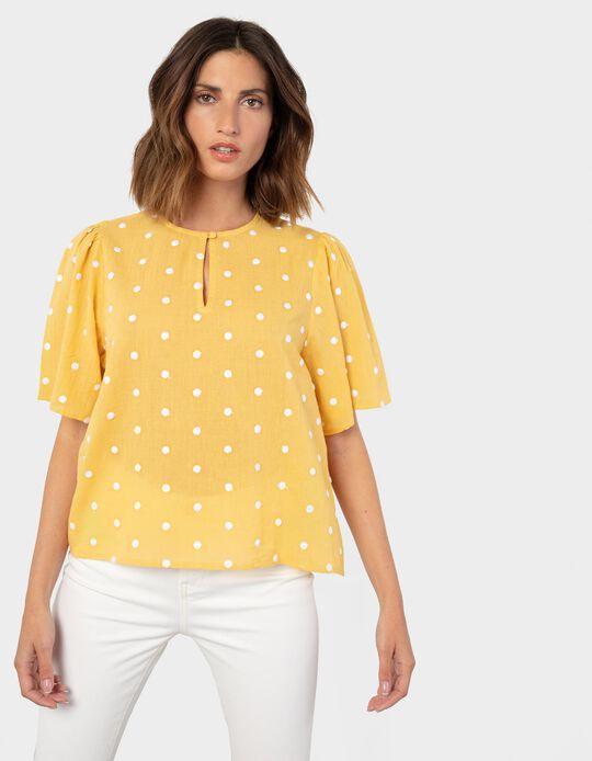 Blusa com Relevo, Amarelo