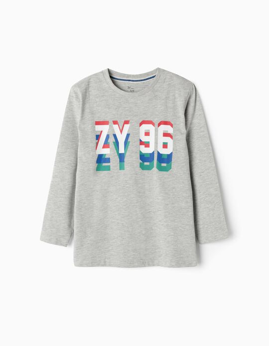 Long-sleeve Top for Boys 'ZY 96', Grey
