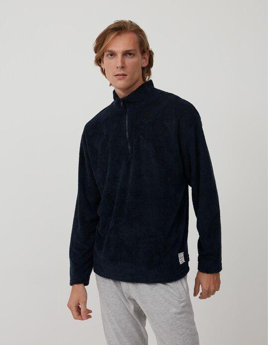 Sweatshirt Gola com Fecho, Homem, Azul Escuro
