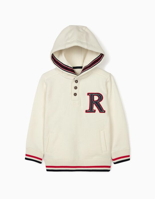 Hooded Sweatshirt for Boys 'R', White