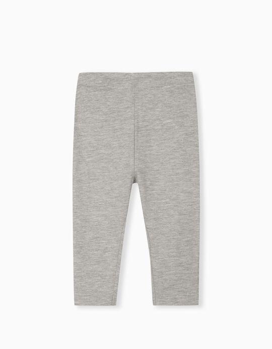 2 Pairs of Leggings for Baby Girls, Grey