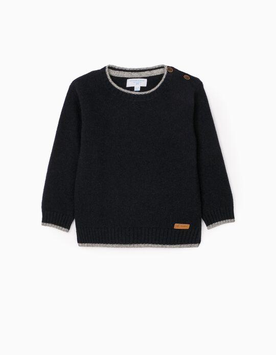 Wool Jumper for Baby Boys 'B & S', Dark Blue