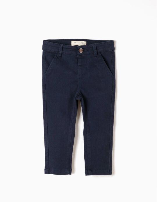 Calças Chino Azuis