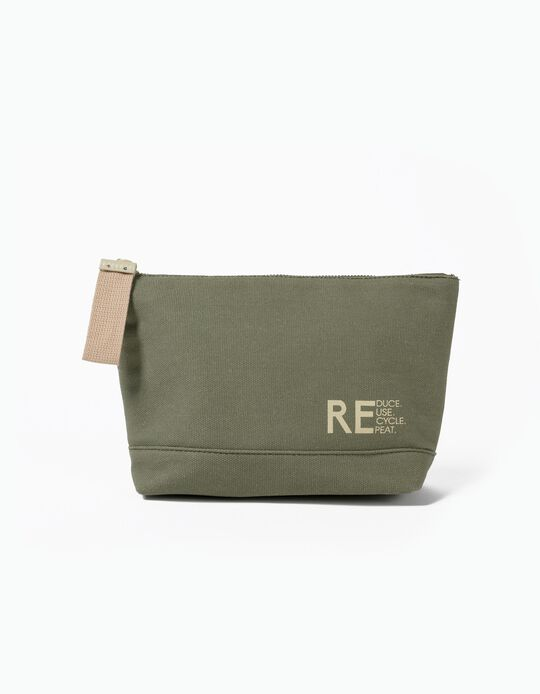 Toiletry Bag in Recycled Canvas, Men