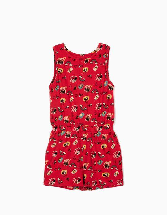 Macacão para Menina 'Minnie Fun Day', Vermelho