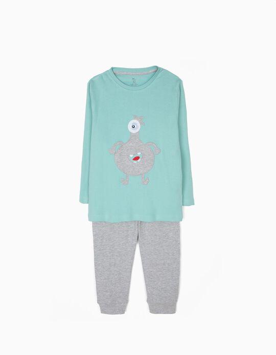 Pijama Manga Comprida e Calças Cute Monster