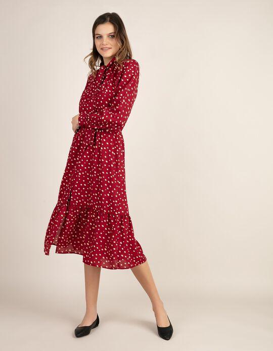 Vestido midi com padrão