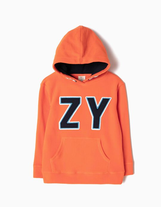 Orange Polar Fleece Sweatshirt, ZY