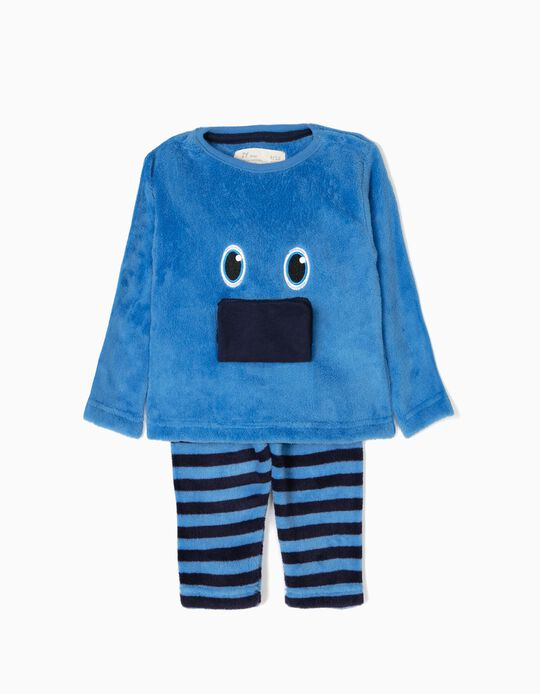 Pijama Camisola e Calças Little Monster Azul
