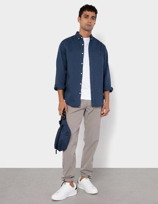 Slim Fit Shirt for Men, Dark Blue