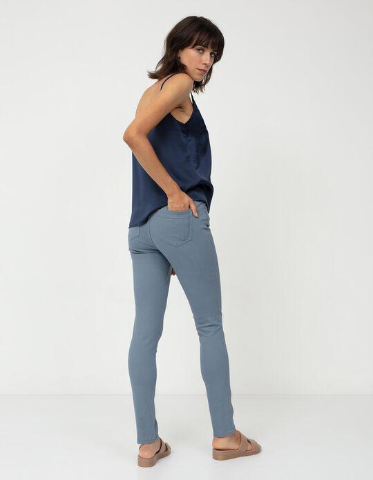 Calças de Sarja, Mulher, Azul