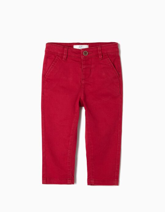 Chino Trousers for Baby Boys, Red