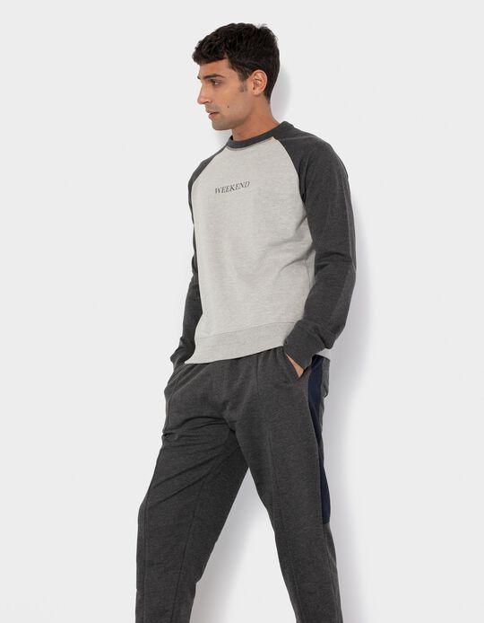 Sweatshirt Leve, Homem, Cinza