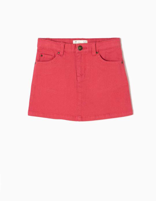 Pink Twill Skirt