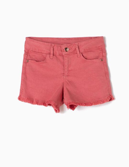 Pink Frayed Shorts
