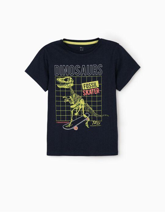 T-shirt for Boys, 'Dinosaur', Dark Blue